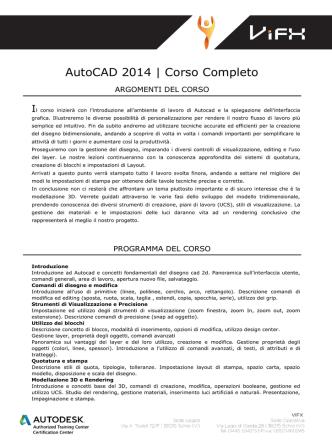 AutoCAD 2014 | Corso Completo