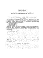 CAPITOLO 7 LOGICA CLASSICA DEI PREDICATI: SEMANTICA 1