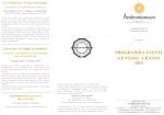 PROGRAMMA EVENTI GENNAIO - GIUGNO 2015