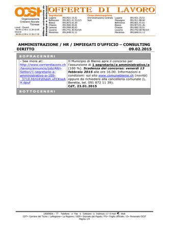 AMMINISTRAZIONE / HR / IMPIEGATI D`UFFICIO