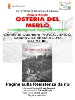 Osteria del Merlo (Sabato 28 Febbraio 2015 ore 17)