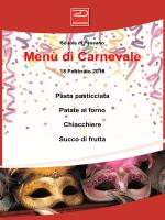 Menù di Carnevale