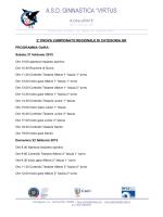 programma gara e ordine di lavoro 2^ prova regionale campionato