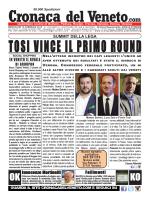 La Cronaca del Veneto 18 febbraio 2015
