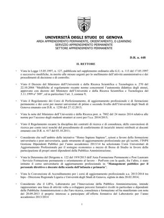 bando - Perform - Università degli Studi di Genova