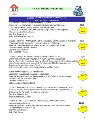 Clicca qui per scaricare l`elenco in PDF dei Seminari del 2015