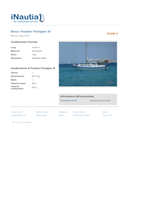 Barca: Finsailer Finclipper 35