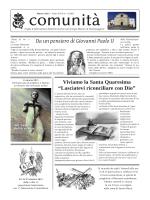 Comunità di marzo - Parrocchia San Giorgio ~ Pozzomaggiore