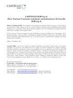 CASTELLO SGR S.p.A. Dott. Gaetano Casertano nominato