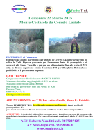 domenica 22/03: Monte Costasole