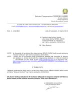 """classe prima SENZA ZAINO - Istituto Comprensivo """"Giorgio Gaber"""""""