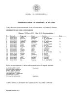 ESAMI DI LAUREA - III° SESSIONE A.A.2013/2014