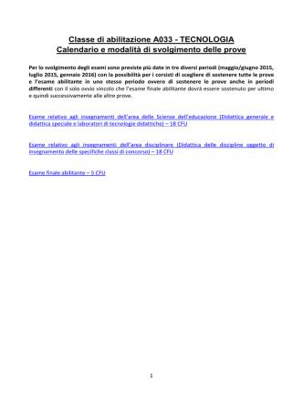 A033 - CAFIS - Università degli Studi Roma Tre