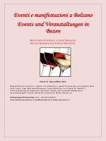 Eventi e manifestazioni a Bolzano Events und Veranstaltungen in