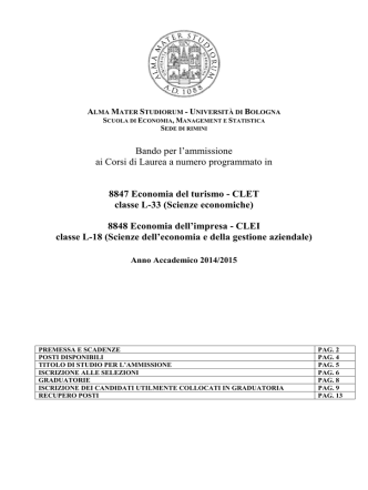 Bando triennali economia A A  14.15 sede Rimini