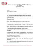 Speech given by Bernadette Ségol, ETUC General Secretary UIL