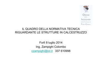 (UNI EN 13670 Forlì) - Ordine Ingegneri di Forlì