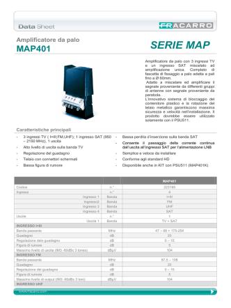 Amplificatore da palo MAP401 SERIE MAP