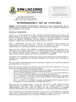 DETERMINAZIONE n° 493 del 17/07/2014