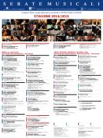 SERIE «A» 2014/2015 Sala Verdi del