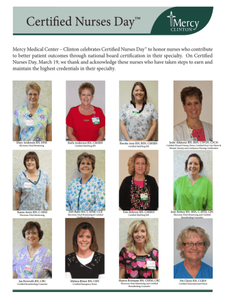 Certified RNs - Mercy Medical Center