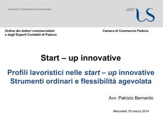 Avv. Bernardo - Start Up innovative