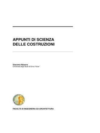 appunti di scienza delle costruzioni