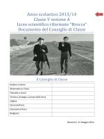 Relazione finale della classe V E – A