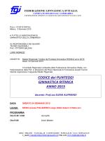 CODICE dei PUNTEGGI GINNASTICA RITMICA ANNO 2015