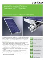 Moduli fotovoltaici Schüco della serie MPE PS 60 FA - VIC