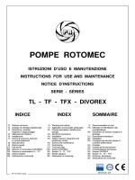 manual divorex - Pompe Rotomec