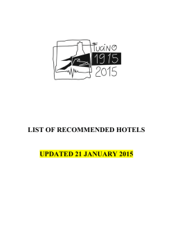 List of recommended hotels