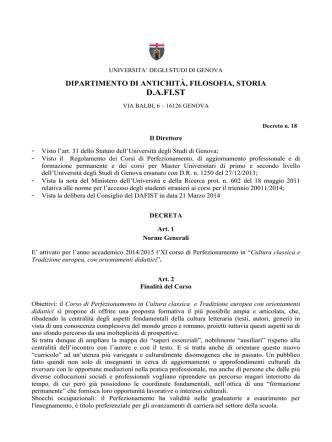 D.A.FI.ST - Studenti e laureati - Università degli Studi di Genova