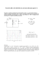 Esercizi sulle reti elettriche in corrente alternata (parte 1)
