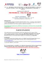 Regolamento XV Memorial F De Maio 2014