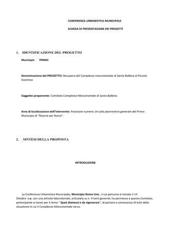 1. IDENTIFICAZIONE DEL PROGETTO 2