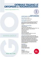 VOL. XL • Fasc. 4 • 2014 - Giornale Italiano di Ortopedia e