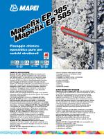 Mapefix EP 385 Mapefix EP 585 Mapefix EP 385 Mapefix EP 585