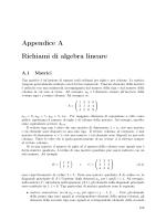 Richiami di algebra iineare