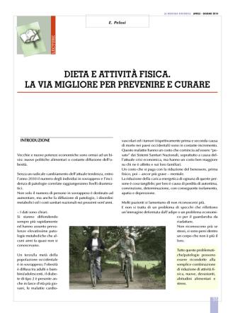 Art. Pelosi - Omeodieta di Ettore Pelosi nutrizionista Torino