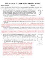 soluzioni e commenti - Dipartimento di Fisica