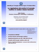 La regolazione dei prelievi di energia reattiva in media