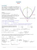 Esercizi sulla parabola