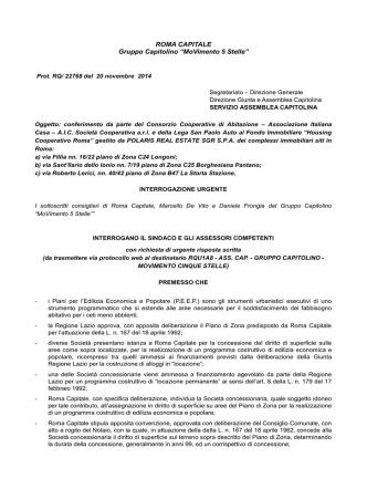 22768 20 novembre 2014 interrogazione Piani di Zona MDV