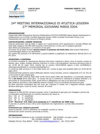 24° meeting internazionale di atletica leggera 27