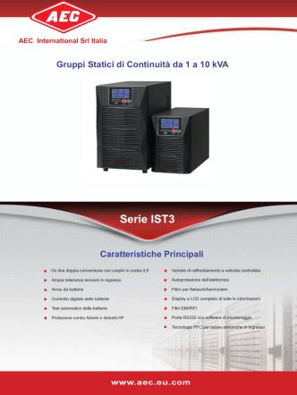 Cliccare QUI per scaricare il Depliant della serie IST3