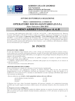 corso abbreviato per AAB - USL 6