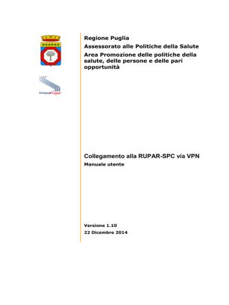 Collegamento alla RUPAR-SPC via VPN