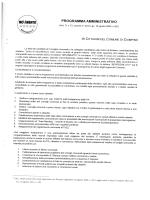 Programma elettorale Marco Bartolucci