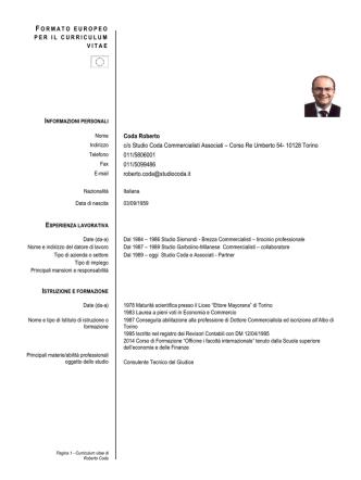 Curriculum (Pdf) - Società Metropolitana Acque Torino SpA
